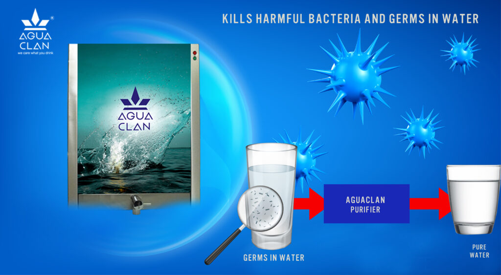 Kills harmful bacteria and germs in water